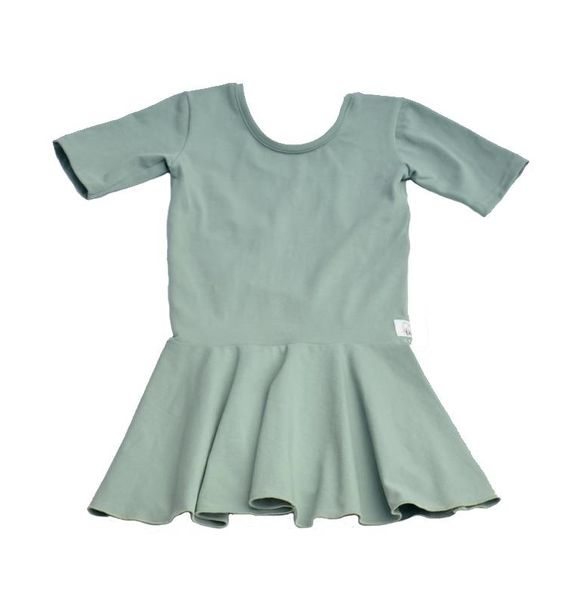 Girlgang PEPLUM DRESS DUSTY KAKI