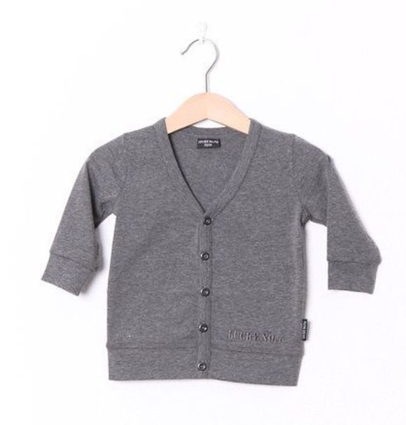 LuckyNo7 LITTLE GREY CARDIGAN