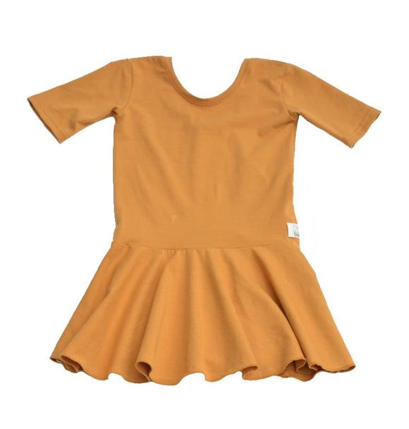 Girlgang PEPLUM DRESS OKERGEEL