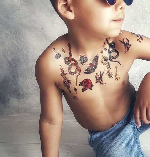 Huidvriendelijke Plak Tatoeages Voor Kinderen Minis Only