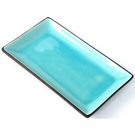 Tokyo Design Glassy Turquoise sushi plate