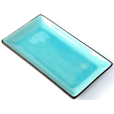 Tokyo Design Tokyo Design Glassy Turquoise sushi plate