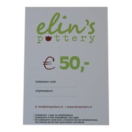 Elin's Pottery Cadeaubon Elin's Pottery € 50,-