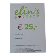 Elin's Pottery Cadeaubon Elin's Pottery € 25,-