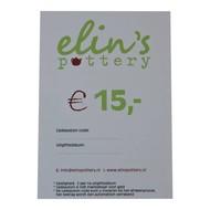 Elin's Pottery Cadeaubon Elin's Pottery € 15,-