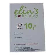Elin's Pottery Cadeaubon Elin's Pottery € 10,-