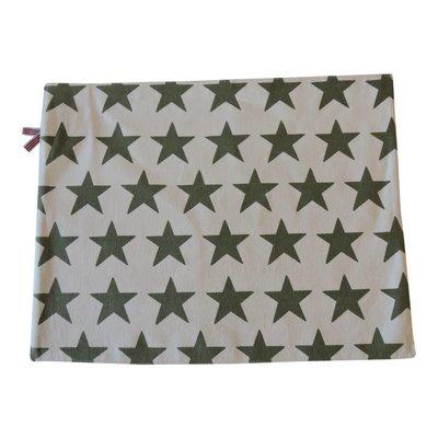 Placemat met groene sterren
