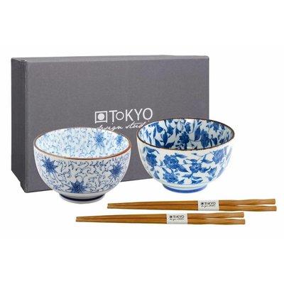 Tokyo Design bowl set 12.7x7.5cm (2pcs+2pair chopstick)
