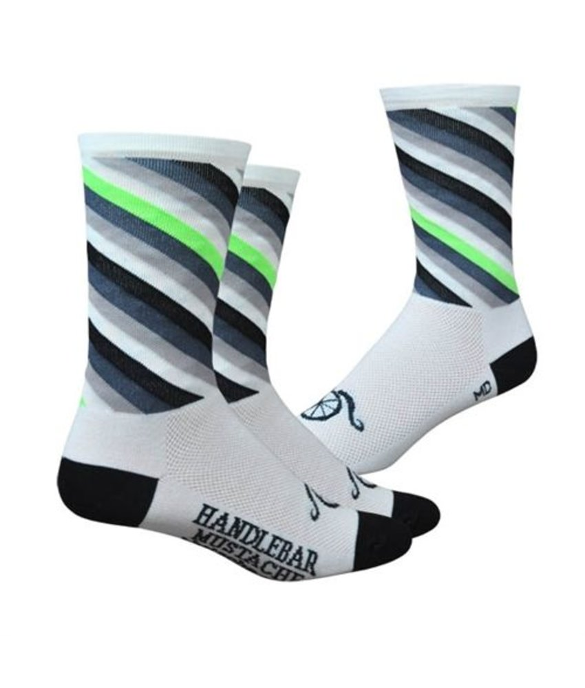 Handlebar Mustache Socks 'Y'all act like you've never seen a white sock before'
