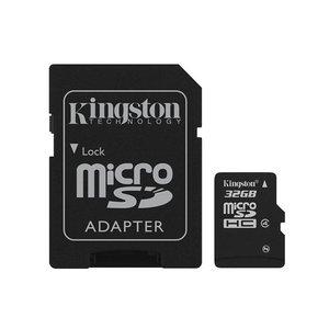Kingston Micro SDHC 32 GB met Adapter Class 4