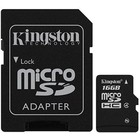 Kingston Micro SDHC 16 GB met Adapter Class 4