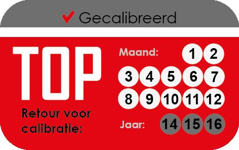 Calibratiestikker TOP-Bouwlaser.nl