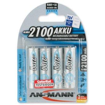 ANSMANN 4X Oplaadbare AA batterij 2100mAh