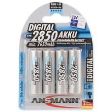 ANSMANN 4X Oplaadbare AA batterij 2850mAh