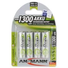 ANSMANN 4X Oplaadbare AA batterij 1300mAh