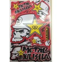 Metal Mulishar Rockstar Sticker Set 1
