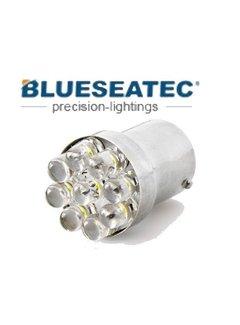 Blueseatec LED Lampe T20/S25 -9LED Blinkerlampe Sockel Bau15s