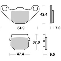 Bremsbelege Brakepad 090121 Rear-Front