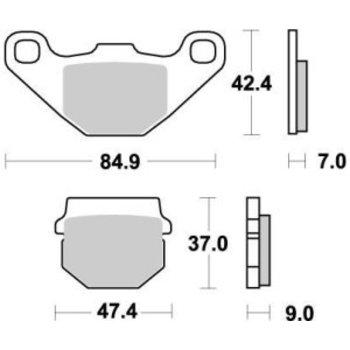 Moto Master Bremsbelege Brakepad 090121 Rear-Front