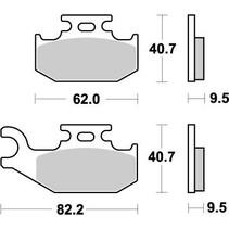 Moto - Master Brakepad 096411 hinten