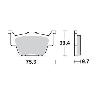Moto Master Brakepad 095111 Rear