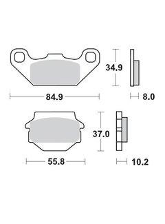 Moto Master Brakepad 091311 Front