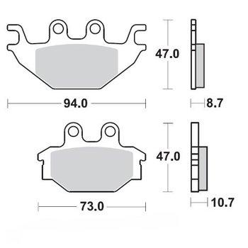 Moto Master Bremsbelege Brakepad 098321 Front - Rear