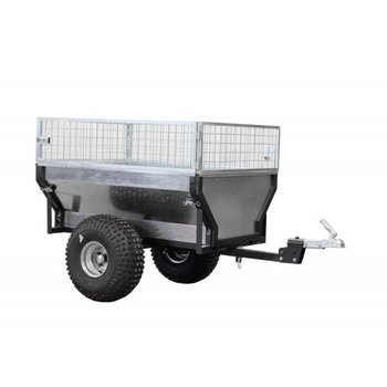 """Iron Baltic ATV trailer """"ECO 300"""" + box extender + with pull bar extension / rotating hitch coupling"""
