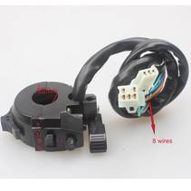 Motorcyle Left Switch Assy W/ Choke Lever Aluminium 8 Wires Dirt Pit Bike
