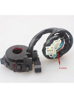 Solid Motorcyle Left Switch Assy W/ Choke Lever Aluminium 8 Wires Dirt Pit Bike