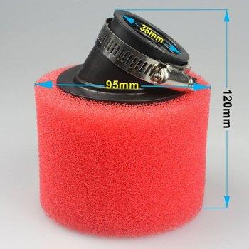 Wingsmoto 35mm Bent Foam Air Filter Cleaner for 50cc 70cc 90cc 110cc ATV Dirt Pit Bike