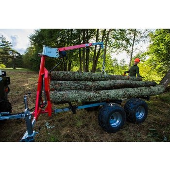 "Iron Baltic CRANE for ATV timber trailer ""IB 1000"""