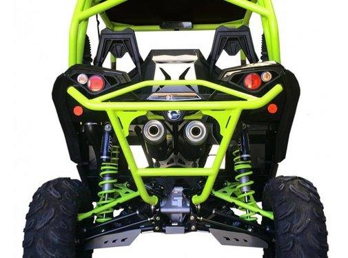 XRW BACK BUMPER BR11 MANTA GREEN - MAVERICK 1000 XDS / XRS TURBO