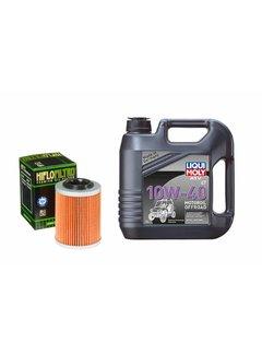 Liqui Moly Ölwechselset 4 Liter 10W-40 + Hiflo Ölfilter HF152 für CFMoto Cforce 800