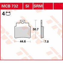 Bremsbelege MCB732