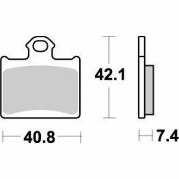 Moto Master Brakepad 096721 Rear