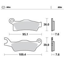 Bremsbelege Brakepad 98821 vorne/hinten