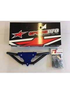 CrossPro Front Bumper Gliese schwarz Plate blau für Yamaha YFM 700 R
