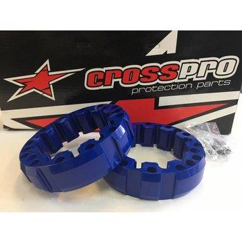 CrossPro Spurverbreiterung blau vorne 45mm LK 4/156 für Yamaha YFM / YFZ Quad´s