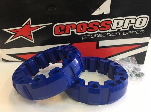 CrossPro Spurverbreiterung blau vorne 45mm LK 4/156 & 4/144