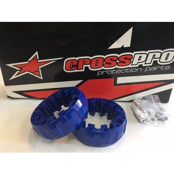 CrossPro Spurverbreiterung blau hinten 45mm LK 4/115 für Yamaha YFM / YFZ Quad´s
