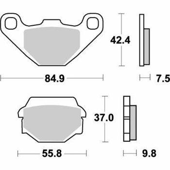 Moto Master Bremsbelege Brakepad 091121 Rear-Front