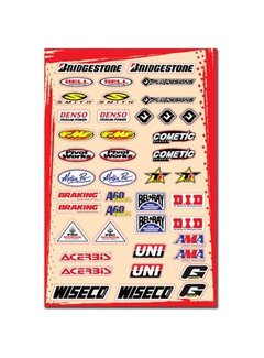 Flu Designs Universal Sponsor Logo Sticker Kit C (30,5 x 45,5 cm)