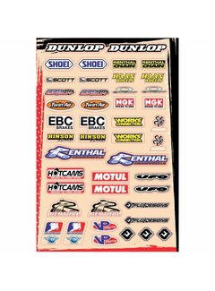 Flu Designs Universal Sponsor Logo Sticker Kit B (30,5 x 45,5 cm)