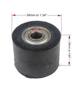 Wingsmoto Gummi Kettenrolle 10 mm / 34 mm