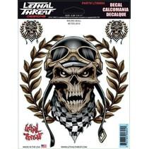 Stickerset  Racing Skull LT90694