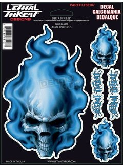 Lethal Threat Stickerset  Blue Flame LT88107