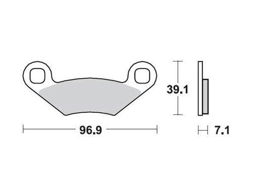 Moto Master Bremsbelege Brakepad 97011 vorne/hinten
