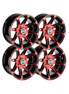 Moose Utility Felgensatz 12 Zoll 387X rot Wheels