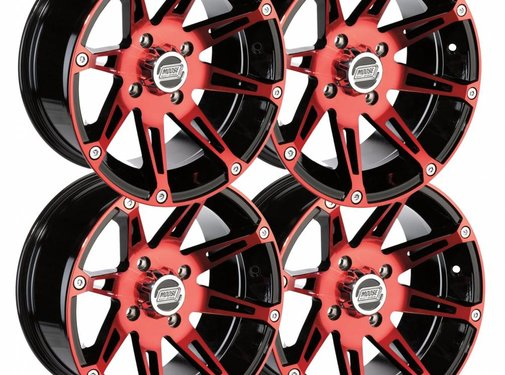 Moose Utility Felgensatz 14 Zoll 387X rot Wheels